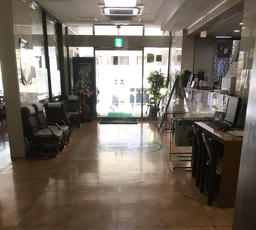 an image of the reception desk area at Hotel Sun Royal Kawasaki