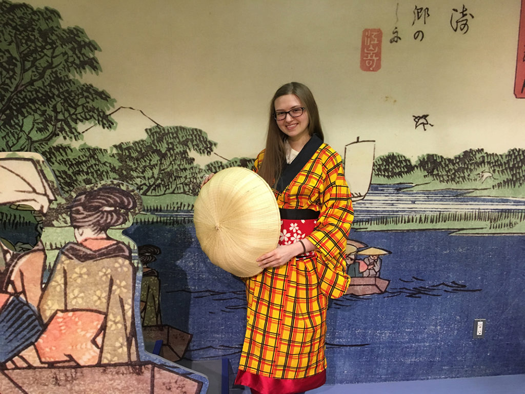 image of me wearing traditional Japanese clothes