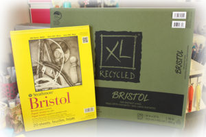 Image of Strathmore Bristol 9 by 12 inch paper and Canson XL Recycled Bristol 14 by 17 inch paper