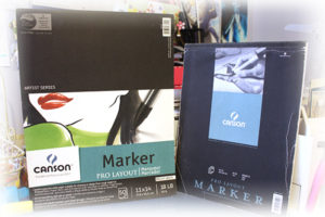 Image of Canson Marker Paper in sizes 9 by 12 and 11 by 14